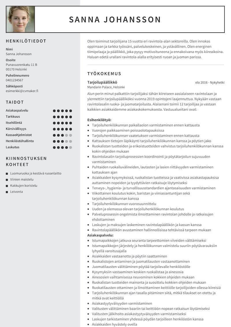 Exempel på CV